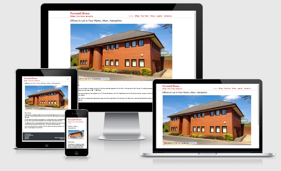 responsive website viewed on different devices