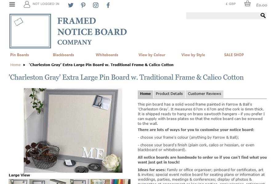 Framed Notice Board Company